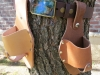 Light-and-Medium-Brown-Plano-Holstar-Beer-Holster-with-Solar-System-Belt-Buckle 2
