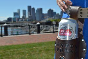 Dark Brown Luckenbach Holstar Beer Holster - Boston Strong