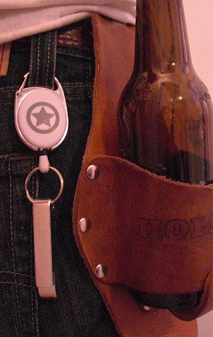 holstar logo retractable reel with bottle opener holstar beer holsters. Black Bedroom Furniture Sets. Home Design Ideas