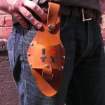 The Hart - Medium Brown Holstar Beer Holster - Heart TX
